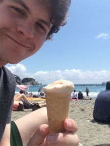 I took this smug selfie for my brother Ryan. Gelato, a beach, and Italy all in one picture is basically the perfect recipe for jealousy.